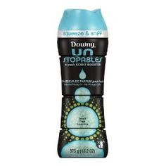 If you haven't tried UNSTOPPABLES by Downy....you are missing out! This stuff is amazing, the scent FINALLY lasts...weeks!! Plus if you have the new HE washers it makes them smell good too!! YAY! :)