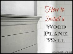 how to install a wood plank wall