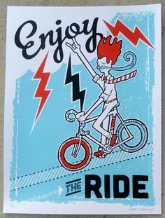 Charlie Chauvin's Enjoy the Ride created for ArtCrank Austin 2012. $40 http://www.chawlie.com/enjoy-the-ride-artcrank-2012/
