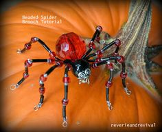 Eek... A beaded Spider! Brooch.