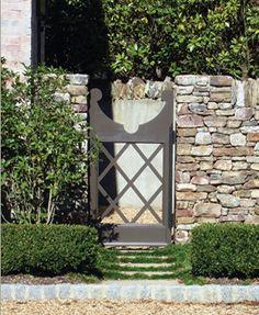 fenc, charm garden, garden gates, outdoor space, stone walls, gardens, backyard, modern garden, design