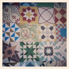 collection of modern hidraulic tiles