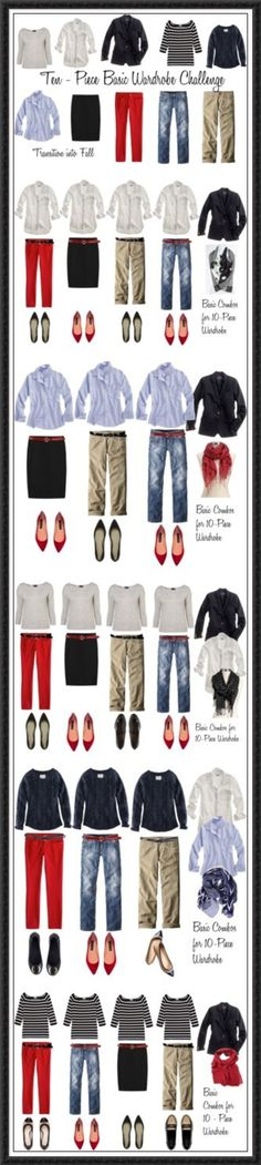 Great ideas for how to create maximum outfits with minimal pieces