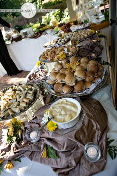 A gorgeous way to set up a buffet table