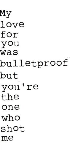 bulletproof love- Pierce the Veil