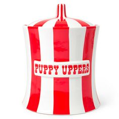 Jonathan Adler Puppy Uppers in Provocative Pots...perfect for my sweeties treats.