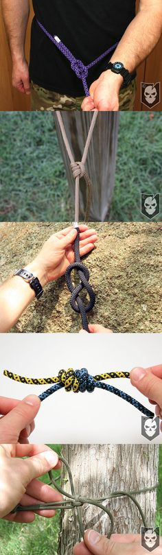 5 Knots You Need to Know How to Tie at All Times - http://itstac.tc/H0yIlM // Bowline // Taut-Line Hitch // Threaded Figure-Eight // Double Fisherman's Knot // Power Cinch Knot