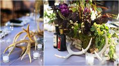 Antlers for centerpiece depth