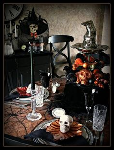 Great tablescape spooky