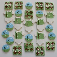Cookies for a golf theme baby shower