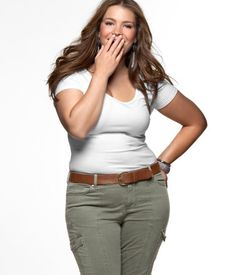 Plus-Size Model Tara-Lynn for H You can be healthy and confident and beautiful at a size 16. My waistline does not define me