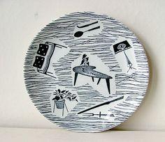 Enid Seeney / Ridgway Homemaker Plate