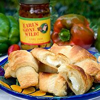 OMG! Crescent Rolls with cream cheese and jalapeno jelly... Earl's Gone Wild Style!
