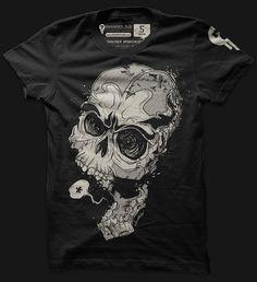 Knocked Speechless skull tees shirts