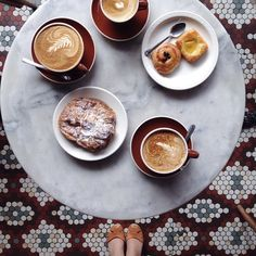 Love that tile!  breakfast at Ost Cafe NYC / photo by kessara