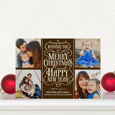 Embellished Greeting - #Christmas Cards in a warm Truffle Brown