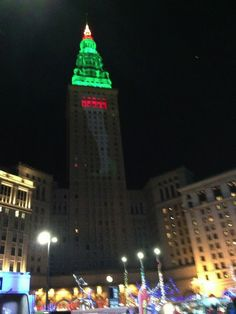Terminal Tower,  Christmas in Cleveland