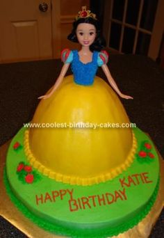 Homemade Snow White Princess Cake... This website is the Pinterest of princess cake ideas
