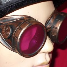 Steampunk Goggles Glasses AVIATOR Copper by oldjunkyardboutique, $24.99