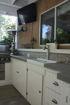 Ordinary patio turned outdoor kitchenette