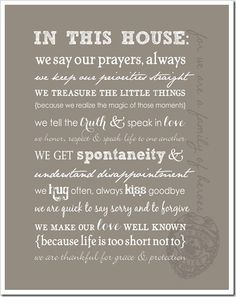 FAMILY rules - love it