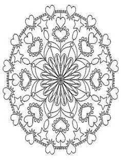 Adult Printable Art Coloring Pages | Mandala Abstract Art Coloring Pages Free Colouring Pages to Print