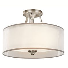 """Kichler Lacey Antique Pewter Three-Light Semi-Flush Mount on Bellacor for 250 15"""" w x 10.75"""" h"""