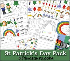 Free St. Patrick's Day Pack - 55 pages for ages 2 to 8 - 3Dinosaurs.com