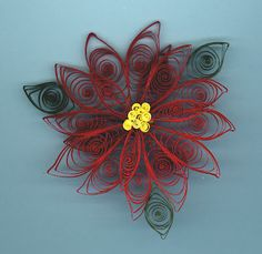 Christmas quilling poinsettia