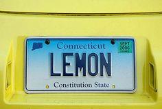 LEMON (CT vanity plate)