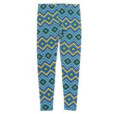 Add a wow factor to your line-up with these bright Aztec print leggings. Pair them with a solid top for a modern, updated style! Pull-on elastic waist.