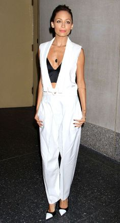 Nicole Richie in J Brand and bra by Alexander Wang at The Today Show, New York, America - 04 Jun 2013