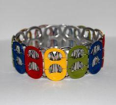 Rainbow Soda Tab Bracelet