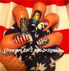 Day 146: Memorial Day Nail Art www.nailsmag.com