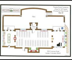 Set up for Fireside Room Ceremony- 120 Guests Location: Boettcher Mansion
