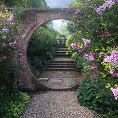 "myfairylily: ""Moongate, West Green House Garden, Hampshire 