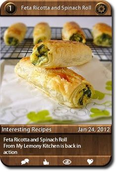 Feta Ricotta and Spinach Roll  From My Lemony Kitchen is back in action     ...