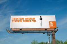 Denver Water campaign 2013. Use even less.  Agency: Sukle Advertising & Design.  Water conservation. #water #denver #waste