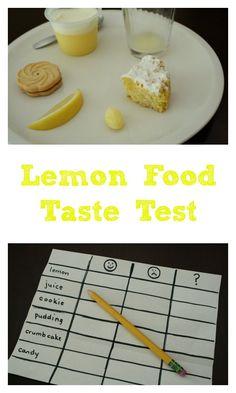 Lemon Food Taste Test-Sense of Taste Activity for Kids
