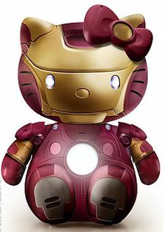 iron man x hellow kitty