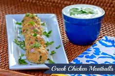 Prepping Parties : Greek Chicken Meatballs with Yogurt Sauce