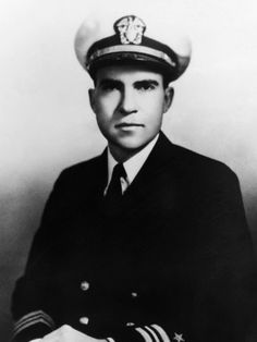Commander Richard Milhous Nixon, U.S. Naval Reserve, WWII. Served 1942–1945 on various islands in the South Pacific and Commanded SCAT units in the South Pacific.