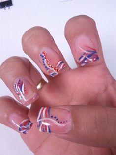 4th of july nail art   4th of July Inspired Nails - Nail Art Gallery