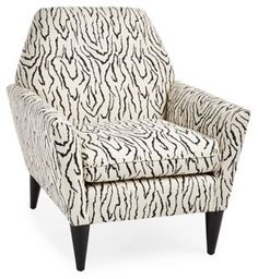 How fun is the zebra fabric on this chair??