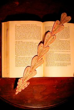 Heart, Cloth BookMark, a Reproduction of an early one.