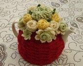 4-6 Cup Crochet Tea Cosy/ Tea Cozy/ Cosy/ Cozy  Red (Made to order)