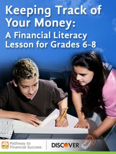 Keeping Track of Your Money: Lesson about financial record keeping for middle school #pathwaytofinancialsuccess #discover #weareteachers