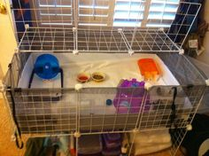 Snap-Together Storage Cubes.  Hedgie supplies underneath.