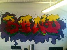Band room Mural- Hip Hop Lettering.  Mr. MintArt