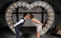 Photo Booth Fun #Letter Lights #letter_lights